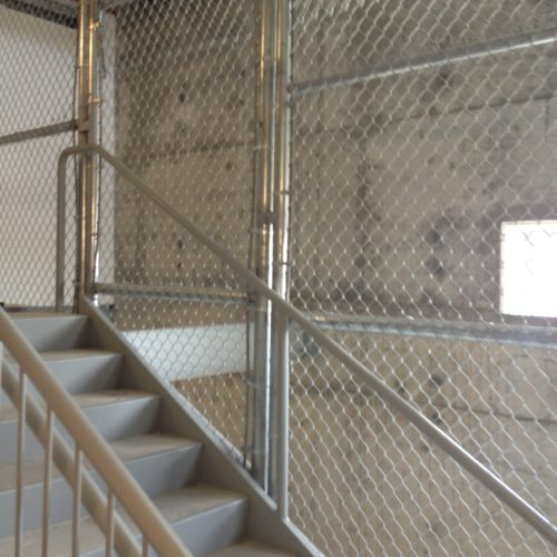 Chain Link Stairwell Fence2
