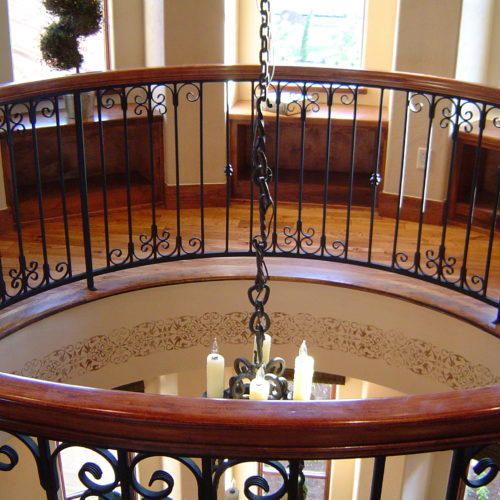 11_Curved Scroll Iron Railing