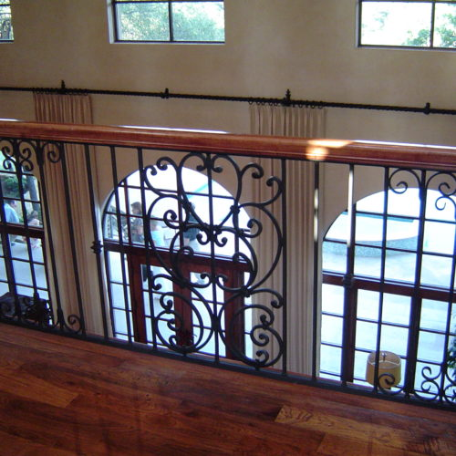 11_Custom Scroll Iron Railing