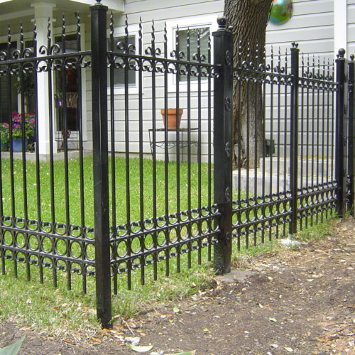 11b_Custom Iron Scrollwork Fence