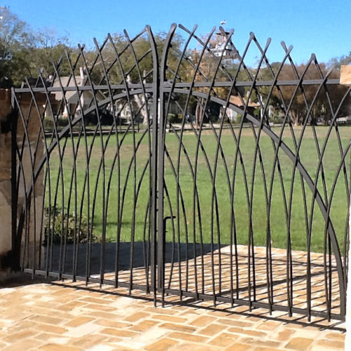 12_Custom Bent Picket Swing Gate