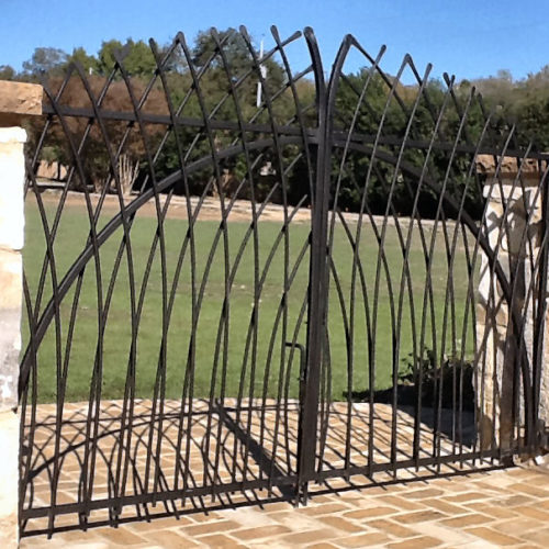 12b_Custom Bent Picket Swing gate