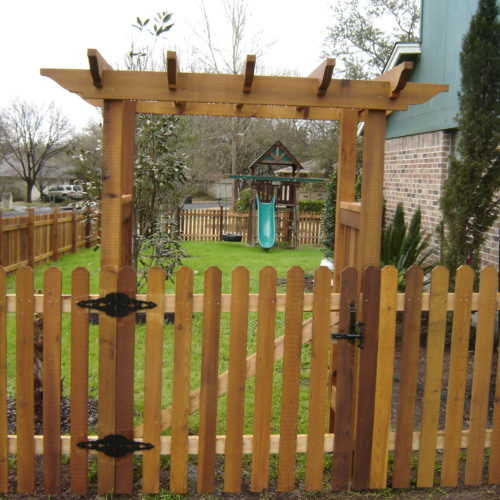 13_Picket Pergola Walk Gate