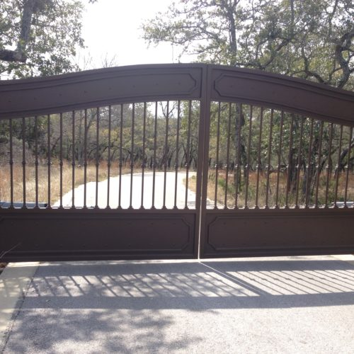 13b_Custom Iron Swing Gate