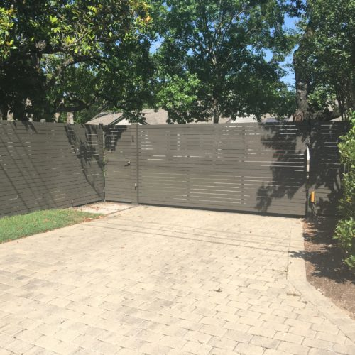 14d_Custom Horizontal Steel Fence
