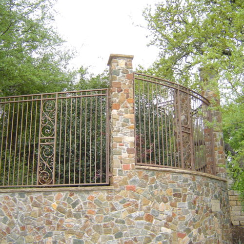 16_Custom Scroll Iron Fence