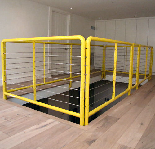 17_Pipe Steel Cable Balcony Railing