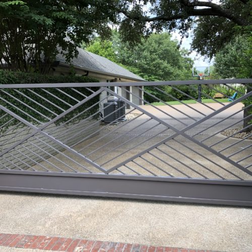 17b_Contemporary Iron Swing Gate