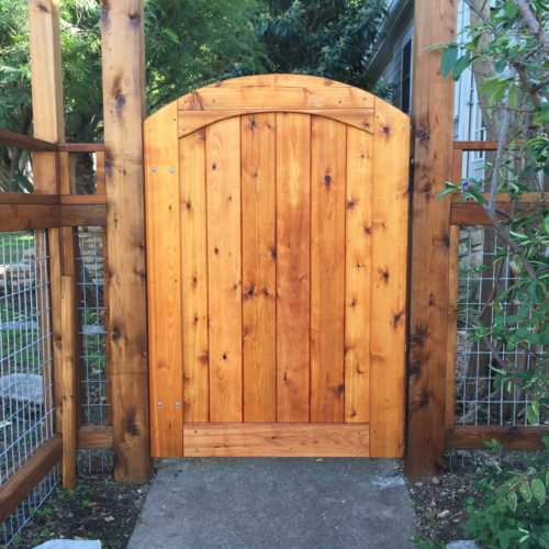 17b_Custom Wood Walk Gate
