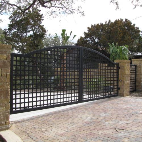 18_Custom Gothic Swing Driveway Gate