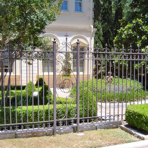 18_Custom Scrollwork Iron Fence