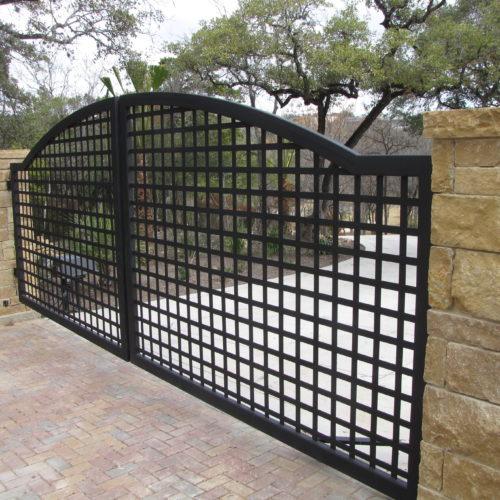 18b_Custom Gothic Swing Driveway Gate