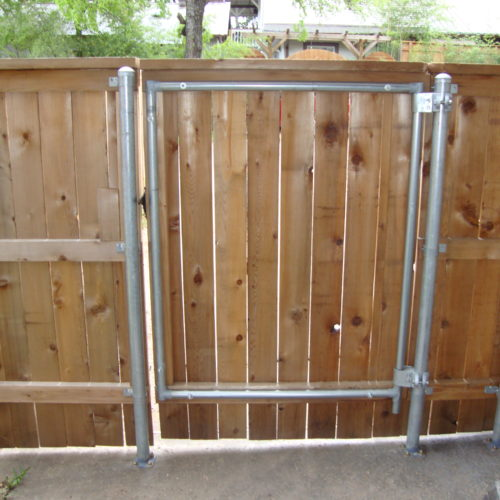 19b_Wood on Steel Frame Walk Gate