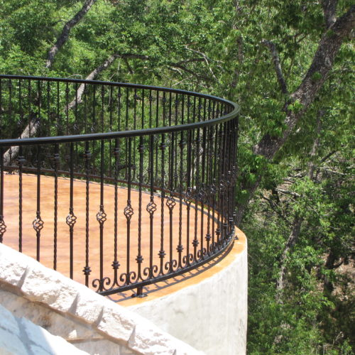 1_Curved Custom Iron Railing