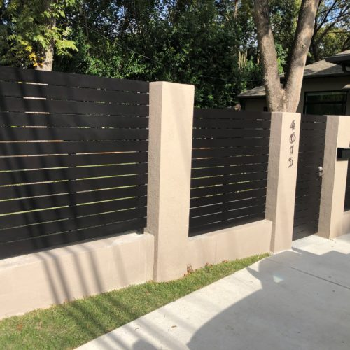 1_Custom Horizontal Steel Fence