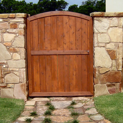 1_Custom Wood Walk Gate