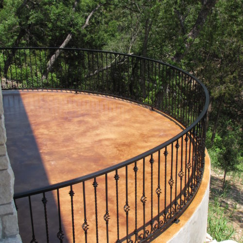 1b_Curved Custom Iron Railing