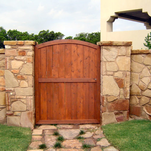 1b_Custom Wood Walk Gate