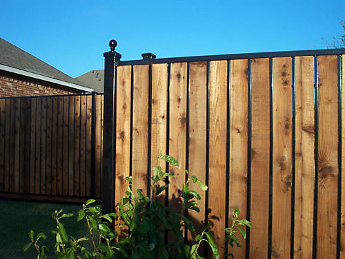 22_Custom Iron Wood Full Privacy Fence