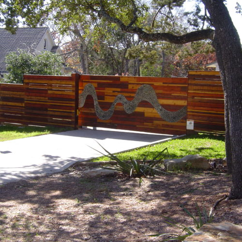 22_Custom Wood Slide Gate