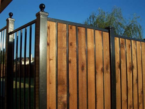 22b_Custom Iron Wood Full Privacy Fence
