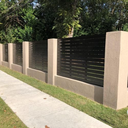 2_Custom Horizontal Steel Fence