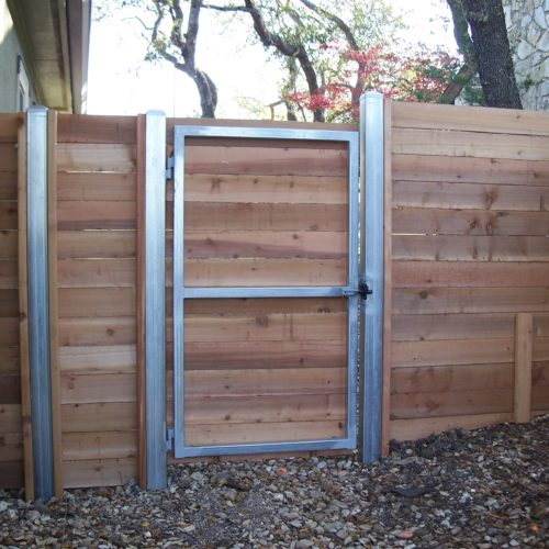 2_Wood_Square Steel Frame Walk Gate