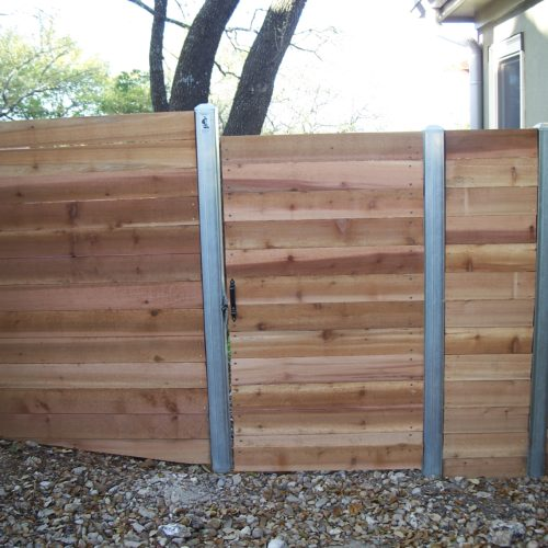 2b_Wood_Square Steel Frame Walk Gate