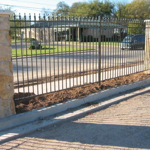 3 Rail w Finials _ Masonry Fence
