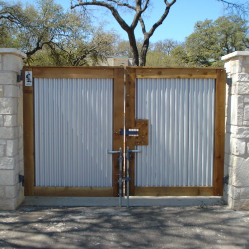 3_Wood Metal Dumpster Enclosure Gates