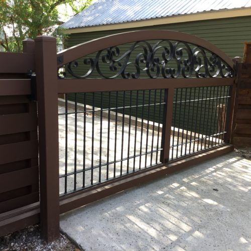 3b_Aluminimum Scroll Driveway Gate