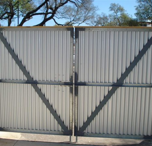 3b_Wood Metal Dumpster Enclosure Gates