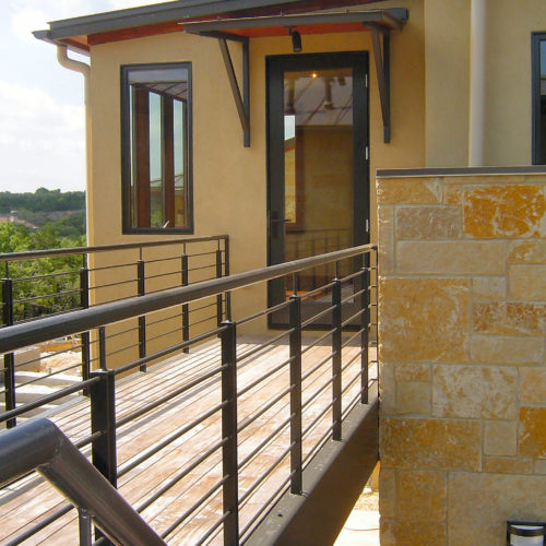 6b_Contemporary Iron Railing