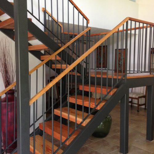 7_Contemporary Wood Iron Railing