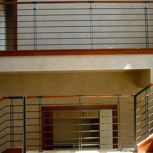 7b_Contemporary Wood Iron Railing
