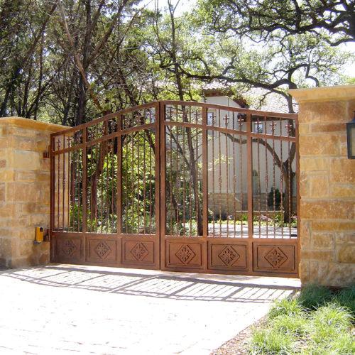 8_Custom Iron Bronze Driveway Gate