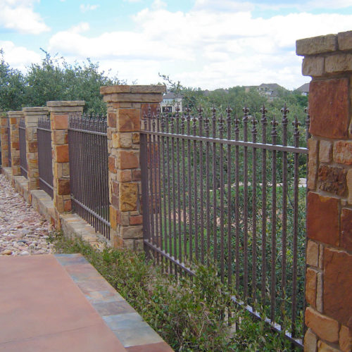 8_Custom Iron Finial Fence