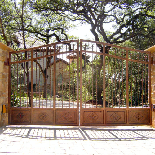 8b_Custom Iron Bronze Driveway Gate
