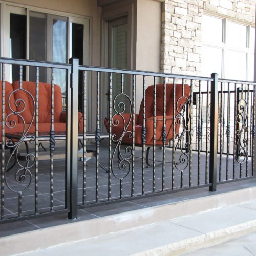 9_Custom Scrolls Iron Railing