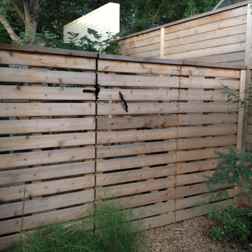 9_Horizontal Wood Semi Privacy Walk Gate
