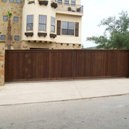 9_Multi Family Wood Slide Gate w Operator