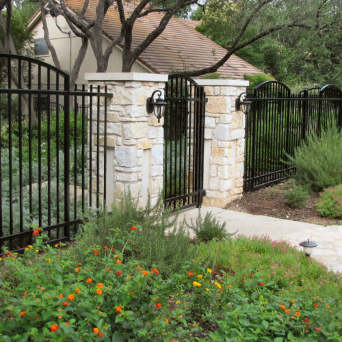 9b_Custom Iron Arched Fence