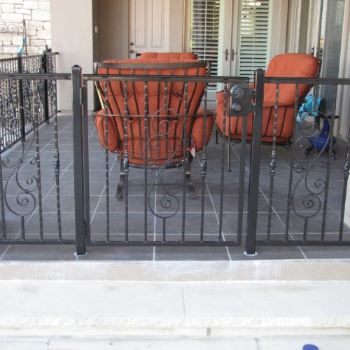 9b_Custom Scrolls Iron Railing