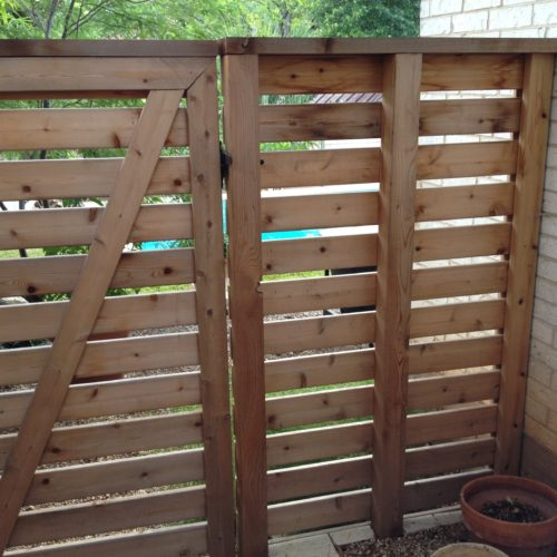 9b_Horizontal Wood Semi Privacy Walk Gate