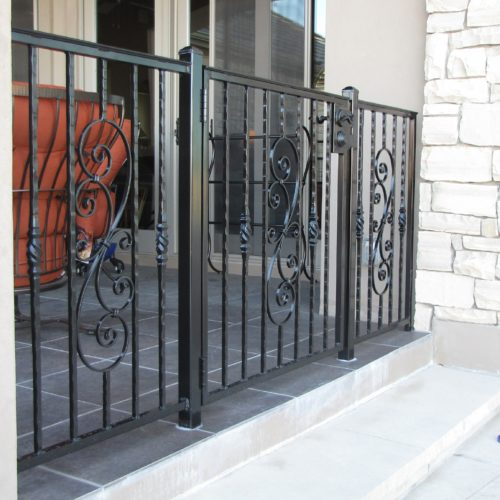 9c_Custom Scrolls Iron Railing