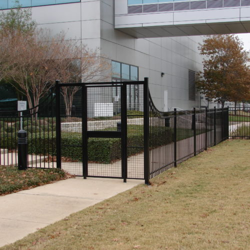 Commercial 3 Rail Custom Access Control Austin Samsung Facility1